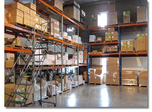 Part of our warehouse at CarpetExtractors.com