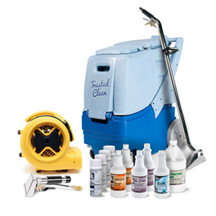 Heated Commercial Carpet Cleaning Equipment & Chemicals Package